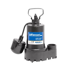 nForcer Sump Pump - 1/3 HP - Cast Iron