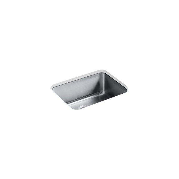 KOHLER Undertone Preserve Medium Under-Mount Single-Bowl Kitchen Sink - Stainless Steel - 23-in