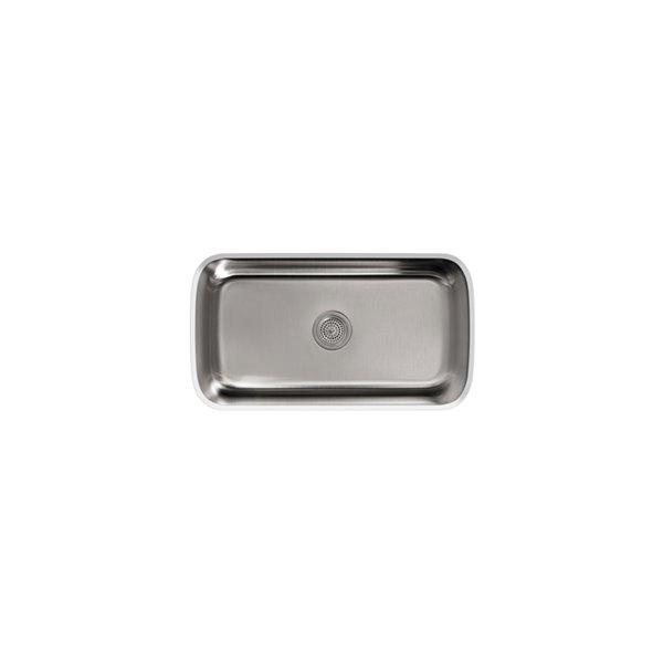 Évier de cuisine KOHLER en sous comptoir Undertone, acier inoxydable, 31.5 po