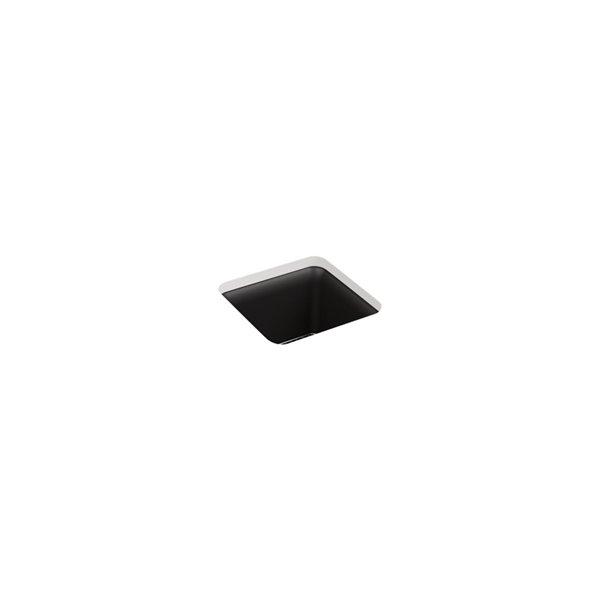 KOHLER Cairn Neoroc under-mount bar sink - Black Matte - 15.5-in