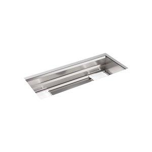 Évier de cuisine Prolific KOHLER en sous comptoir avec accessoires, acier inoxydable, 44 po
