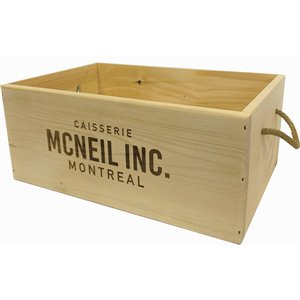 McNeil Decorative Flat Wooden Box - Natural - 11-in x 17-in