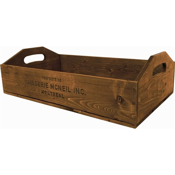McNeil Decorative Serving board in Antique Brown - 16.6-in x 10.5-in