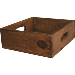 McNeil Antique Brown Pine Crate - 10.5-in x 10.25-in