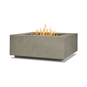 Real Flame Aegean Square Outdoor Propane Gas Fire Table  50,000 BTU - 36-in x 36-in