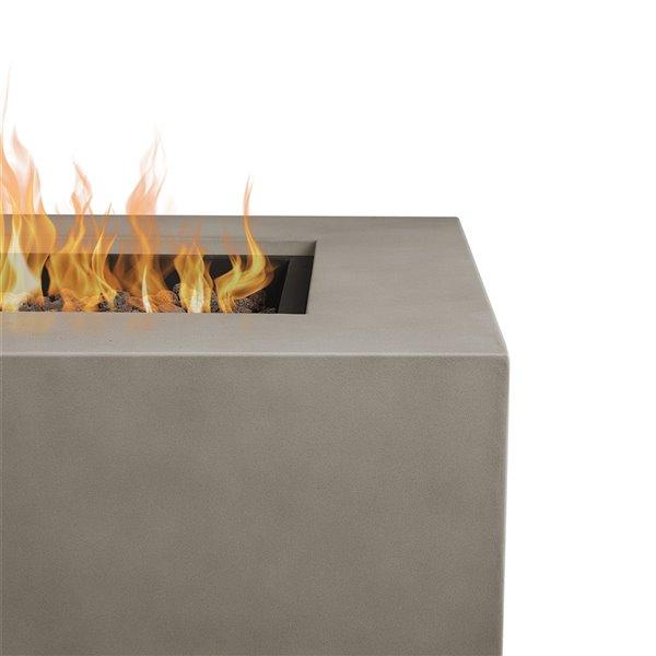 Foyer extérieur au gaz Real Flame LP Aegean avec ensemble conversion gaz naturel, gris brume, 50 000 BTU, 32 po x 50 po