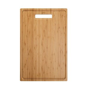 KRAUS Bamboo Cutting Board for Kitchen Sink - 17.5-in x 12-in