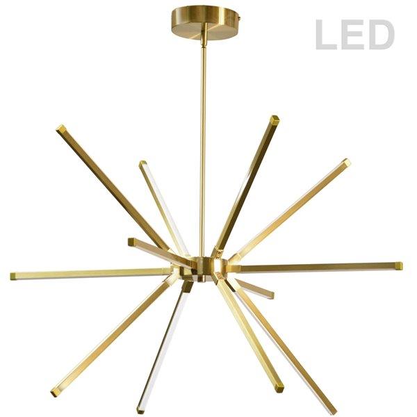 Dainolite Array Chandelier - 12-Light - 20.5-in - Aged Brass