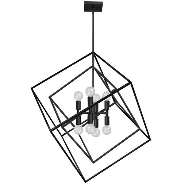 Dainolite Kappa Pendant Light - 8-Light - 27-in x 30-in - Matte Black