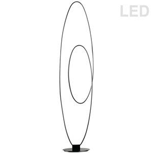 Lampe sur pied Phoenix de Dainolite, 1 lumière, 60 po, noir mat