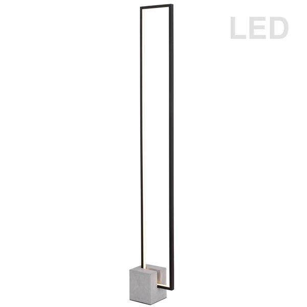 Dainolite Florence Floor Lamp - 1-Light - 54.75-in - Matte Black