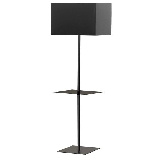 Lampe sur pied Tablero de Dainolite, 1 lumière, 64 po, noir mat