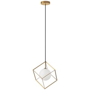 Dainolite Thomson Pendant Light - 1-Light - 11-in x 13.4-in - Gold