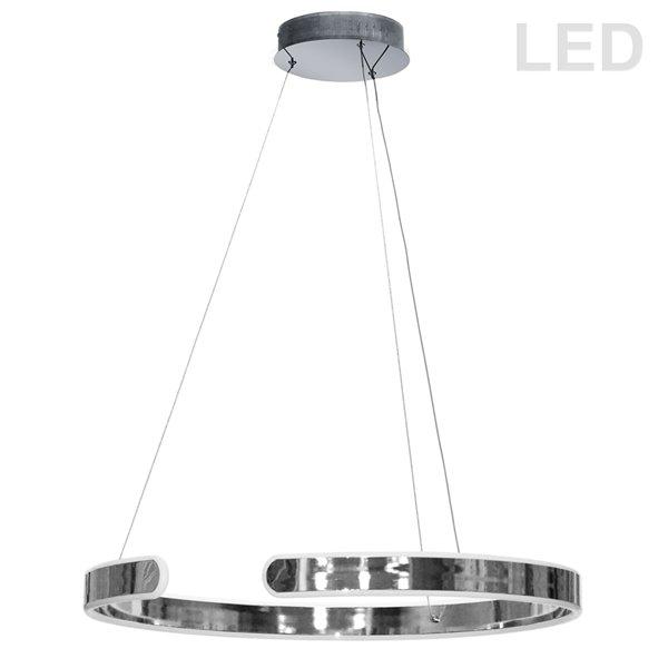 Dainolite Zepler Pendant Light - 1-Light - 24-in x 2-in - Polished Chrome