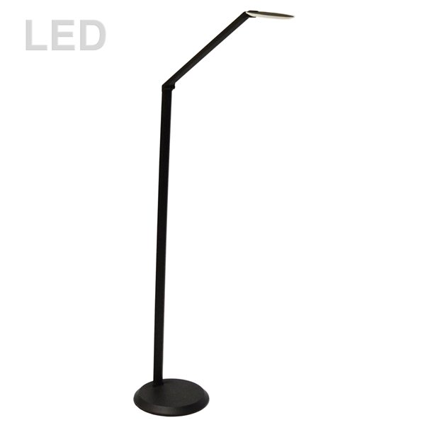 Dainolite Signature Floor Lamp - 1-Light - 49-in - Satin Black