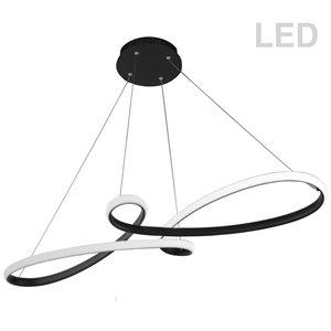 Dainolite Nola Pendant Light - 1-Light - 43.5-in x 3-in - Matte Black