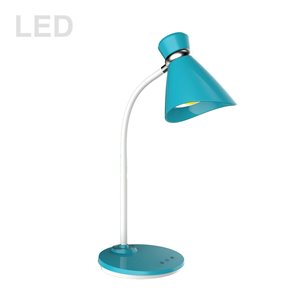 Dainolite Signature Desk Lamp - 16-in - Blue