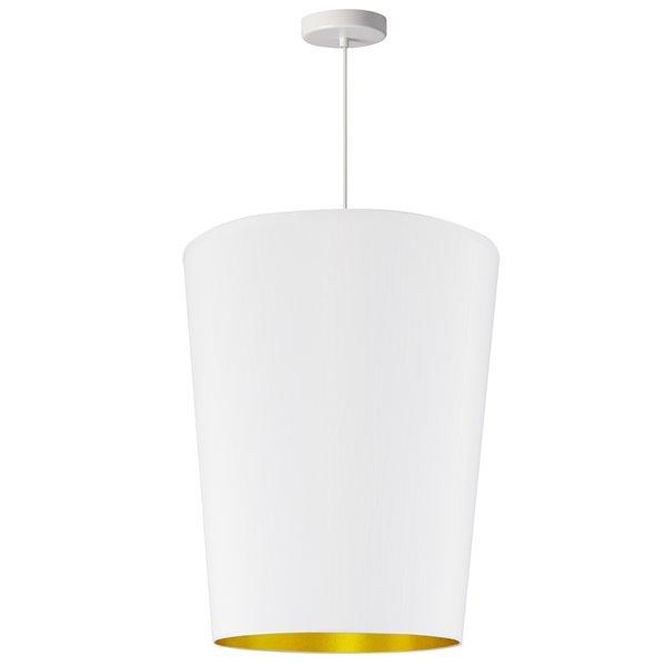 Luminaire suspendu à 1 lumière Paisley de Dainolite, 16 po x 20 po, blanc