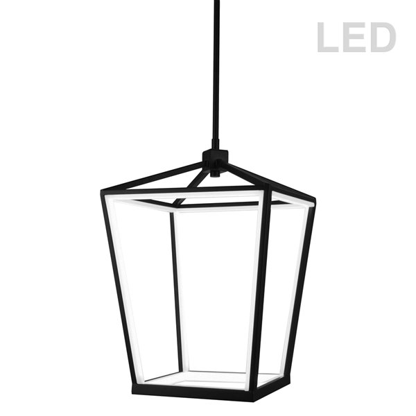 Dainolite Cage Chandelier - 12-Light - 20-in - Matte Black