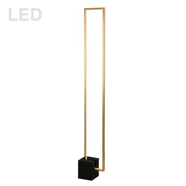 Dainolite Florence Floor Lamp - 1-Light - 54.75-in - Aged Brass