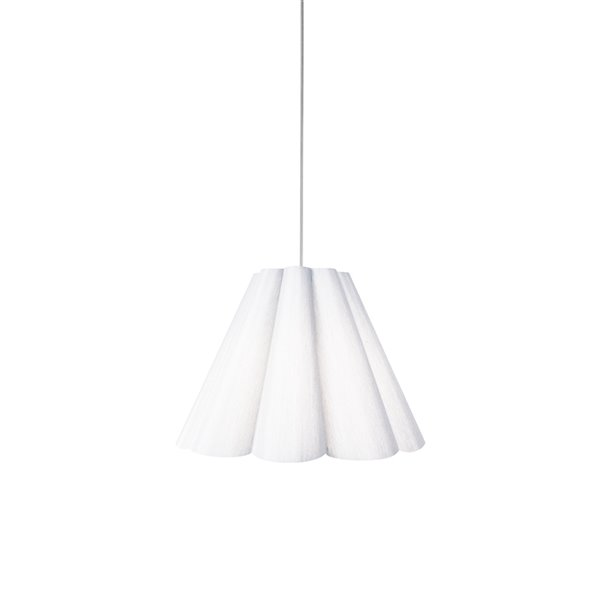 Dainolite Kendra Pendant Light - 1-Light - 19-in x 14.5-in - Polished Chrome and White