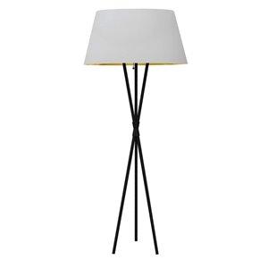 Lampe sur pied Gabriela de Dainolite, 1 lumière, 60,5 po, noir mat/blanc