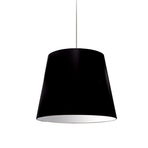 Dainolite Oversized Drum Pendant Light - 1-Light - 20-in x 16-in - Black
