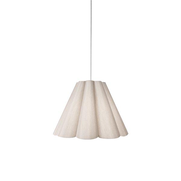 Luminaire suspendu à 1 lumière Kendra de Dainolite, 19 po x 14.5 po, chrome poli/beige