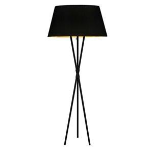 Lampe sur pied Gabriela de Dainolite, 1 lumière, 60,5 po, noir mat