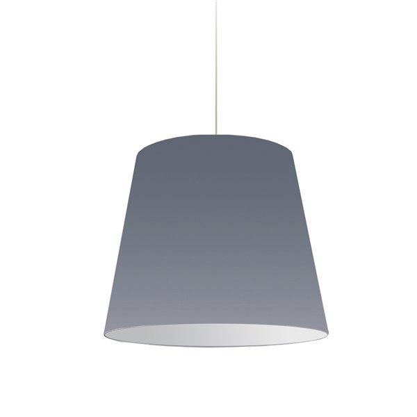 Dainolite Oversized Drum Pendant Light - 1-Light - 20-in x 16-in - Grey