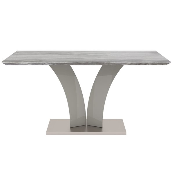 !nspire Contemporary Faux Marble Dining Table - Grey - 63-in