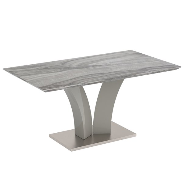 Nspire Contemporary Faux Marble Dining Table Grey 63 In 201 545gy Rona