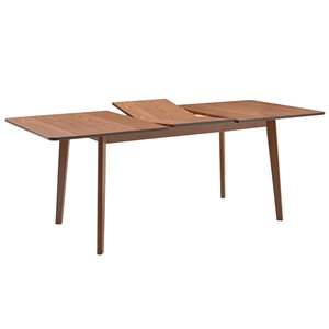 !nspire Mid Century Butterfly Leaf Dining Table - Walnut - 59-in