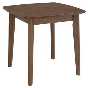 Table de salle à manger !nspire carrée de mi-siècle, noyer, 31.5 po