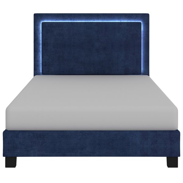 !nspire Platform Bed with Light - Blue - Queen