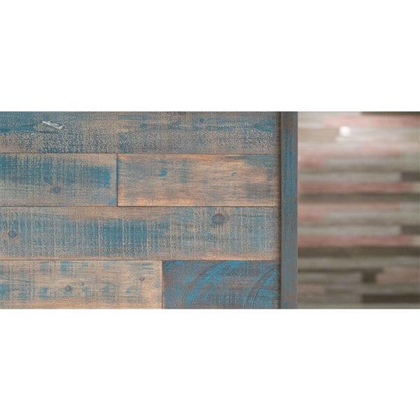 Moulure en coin pour panneau mural ISH d'AS-IS BRAND, 48 po, bleu, pqt de 2