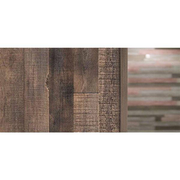 Moulure en coin pour panneau mural ISH d'AS-IS BRAND, 48 po, brun, pqt de 2