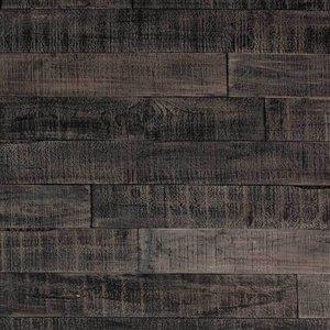 Panneau mural effet de bois recyclé ISH d'AS-IS BRAND -5 po x 4 pi, noir