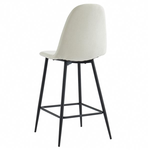 WHI Onio Contemporary Counter Stool - Gray and Black Legs - Set of 2