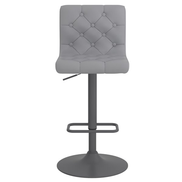 WHI Dex Modern Upholstered Air Lift Stool - Gray -  Set of 2