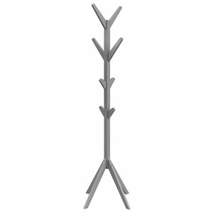 WHI Zayn Solid wood Coat Tree - Gray - 17.25-in x 17.25-in x 69-in H