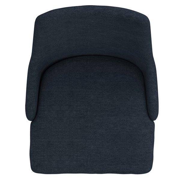 Chaises d'appoint WHI Venice rembourrées de mi-siècle, bleu, ens. de 2