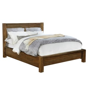 WHI Solid Wood Platform Bed - Walnut - King