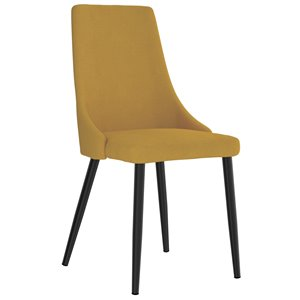 WHI Venice Mid Century Upholstered Side Chair - Mustard - Set of 2