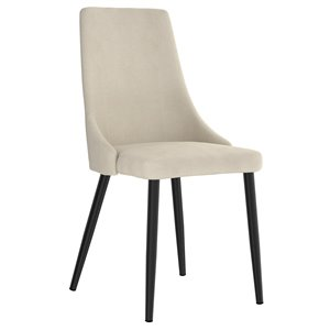WHI Venice Mid Century Upholstered Side Chair - Beige - Set of 2