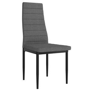 WHI Contra Upholstered Contemporary Chair - Gray - Set of 6