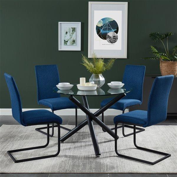 Chaise d'appoint !nspire Vespa contemporaine, bleu, ens. de 2