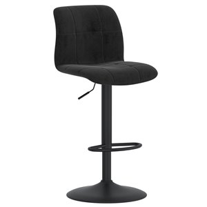 !nspire Tigo Modern Upholstered Air Lift Stool - Black - Set of 2