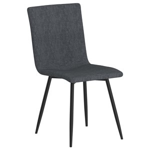 WHI Nora Contemporary Upholstered Side Chair - Blue/Gray Legs - Set of 4