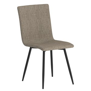 WHI Nora Contemporary Upholstered Side Chair - Gray with black Legs - Set of 4